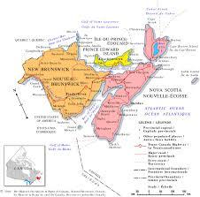 Canada Provinces Map by The Appalachian Region