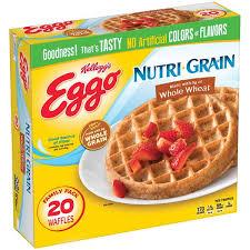 Eggo Toaster Waffles Kellogg U0027s Eggo Nutri Grain Whole Wheat Waffles 20 Ct Hy Vee