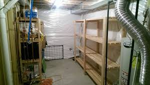 ana white basement storage shelves diy projects