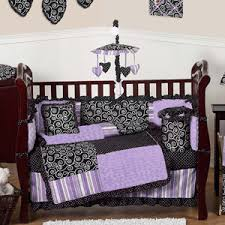 Black And Yellow Crib Bedding Purple And Black Boutique Baby Bedding 9 Pc Crib