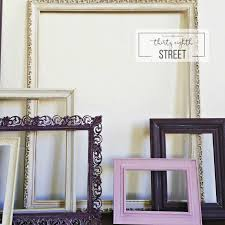 how to create a gallery wall using old picture frames thirty