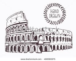 great colosseum rome italy sketch vector stock vector 249311875
