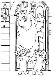pip pop leaving bear inthe big blue house friend coloring