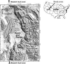 Provo Utah Map by Shallow Subsurface Structure Of The Wasatch Fault Provo Segment
