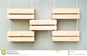 wooden crate wall shelves wooden crates stock photo image 45701906