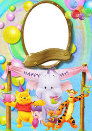 happy birthday winnie pooh photo frame gallery