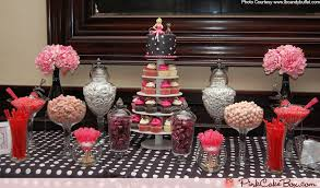 Bridal Shower Dessert Table Bridal Shower Cupcake Tower And Candy Table Pink Cake Box