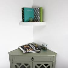 11 8 in w x 2 in h floating corner wall shelf hyman inc