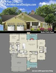 one bungalow house plans plan 25402tf modern prairie pleaser bungalow square and