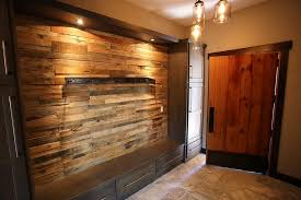Rustic Looking Bedroom Design Ideas Reclaimed Wood Accent Wall Fireplace Pre Fab Wood Wall Panels