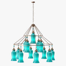 Teal Glass Chandelier Canopy Designs Sara Glass Chandelier 3d Cgtrader
