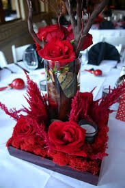 Red And White Centerpieces For Wedding by Flowers Reception Red Centerpiece La Partie Events Roses