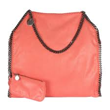 stella mccartney orange faux leather falabella tote my luxury