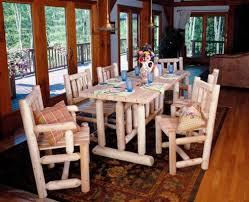 harvest family dining table custom log furniture u2022 rustic log