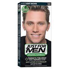 Light Brown Dye 3x Just For Men Shampoo In Hair Colour Dye H25 Light Brown Ebay