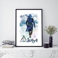 severus snape watercolor print harry potter always watercolor