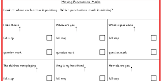 missing punctuation marks ks1 spag test practice classroom secrets