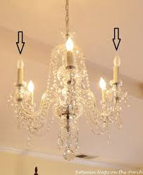 resin candle covers and silk wrapped bulbs for the bedroom chandelier