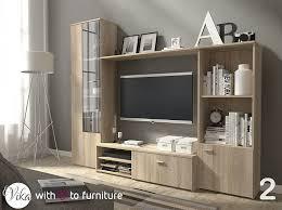 tv unit hugo wall unit living room furniture oak sonoma