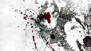 Paint Splatter Wallpaper by Abstract Monochrome White Background Alex Cherry Wolves Wallpaper