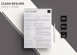 template of a resume clear resume cv template 11 resume templates creative market