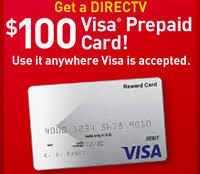 prepaid gift cards free 100 directv visa prepaid gift card offer