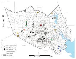 map houston harris county continued evolution of west nile virus houston usa 2002