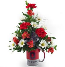 flower delivery columbus ohio ohio state scarlet and gray columbus oh florist flowerama