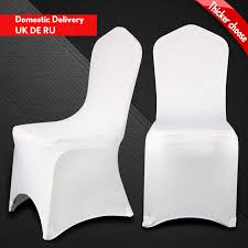 Cheap Spandex Chair Covers For Sale Aliexpress Com Buy Awillhome 50 Pcs White Spandex Chair Cover