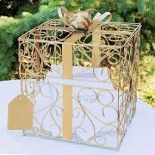 une urne paquet cadeau dore pour anniversaire de mariage communion - Urne De Mariage