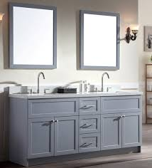 Ace  Inch Transitional Double Sink Bathroom Vanity Set In Grey - Bathroom vanities with quartz countertops