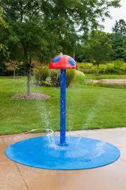 mushroom portable splash pad water play features