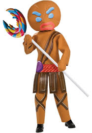 gingerbreadman warrior costume child shrek escapade uk