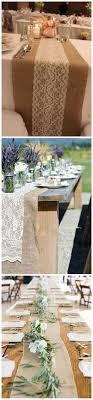 best 25 wedding table runners ideas on rustic wedding