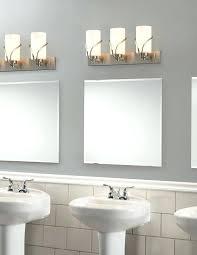 bathroom vanity light lighting fixtures lowes brushed nickel wide