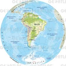 The Map Of South America by Geoatlas World Maps And Globe Globe South America Map City
