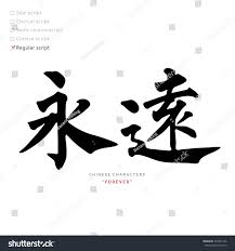 Types Meaning Vector Chinese Characters Calligraphy Hieroglyph Types Stock