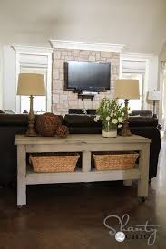 check out my 80 pottery barn inspired console table shanty 2 chic