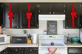 christmas decorations for kitchen cabinets christmas decor for your kitchen occasionally crafty christmas
