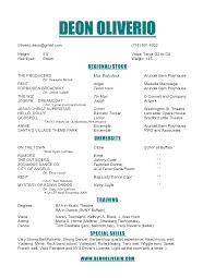 create resume samples musical theater resume sample resume for study