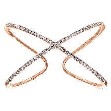 rose gold bracelet diamonds images 14k rose gold diamond x cuff bracelet jpg
