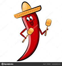 cartoon cinco de mayo red cartoon pepper in sombrero with maracas holidays cinco de mayo