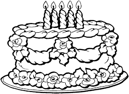 birthday cake coloring page rejeanparent best coloring pages