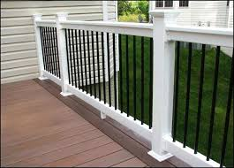 White Vinyl Porch Railing  Outdoor and Garden Gallery Ideas