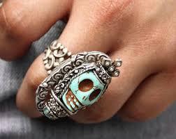 skull gothic rings images Calavera sugar skull ring jpg