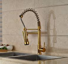 new design gold finish pull down sprayer kitchen faucet mixer