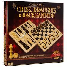 classic games classic games chess draughts u0026 backgammon set big w