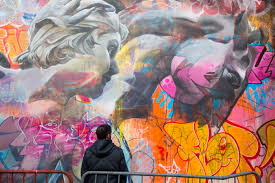 modern mural bowery wall u0027s newest mural by pichiavo mixes colors and classicism