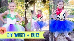 Toy Story Family Halloween Costumes by Diy No Sew Woody Buzz Costume Tutu Toy Story Youtube