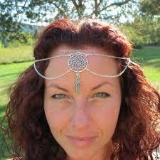 chain headpiece chain headpiece boho jewelry from themysticaloasisglow on